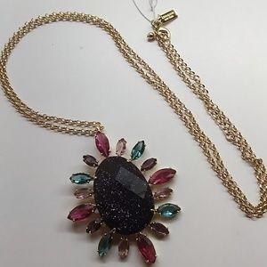 Kate Spade New Black Oval Necklace